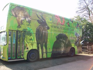 The RZSS 'Wild Bus' will make its debut this Saturday outside 'Our Dynamic Earth'