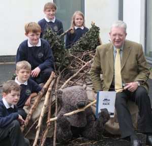 Education minister Michael Russell launches beaver education pack