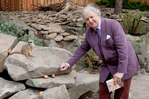Meerkat Plaza opening with Alexander McCall Smith - photo by Ivon Bartholomew