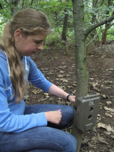 Science Summer School - camera trap setting