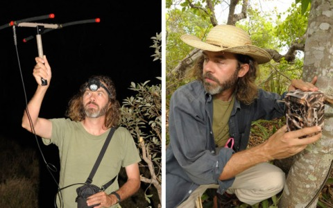 Arnaud Desbiez researching Giant Armadillos in the Brazilian Pantanal