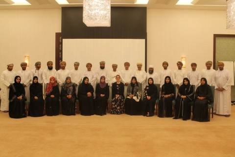 OCE staff at project presentation in Muscat
