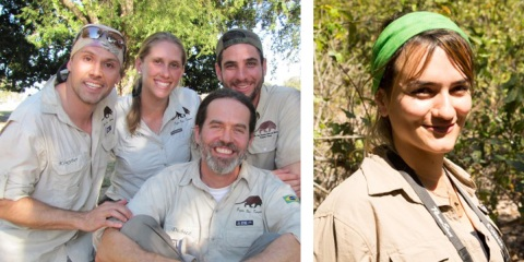 Left: The Pantanal Team - Danilo, Camila, Arnaud, Gabriel. Right: Bruna Oliveira