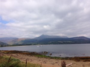 View of Arran. Luckily the fog had cleared by the time we were due to leave.