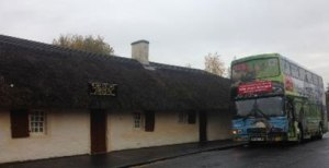 Our-bus-at-Rabbie-Burns-birthplace-in-Alloway-Ayr